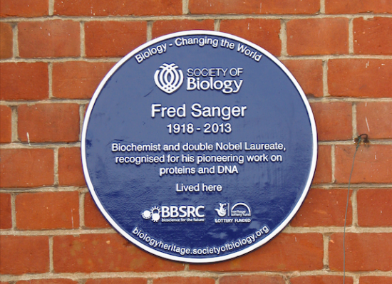 Fred Sanger blue plaque