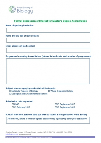 Masters-EOI Form